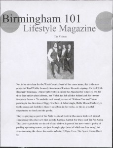 The Visitors - Birmingham 101 Magazine2 - May, June 10