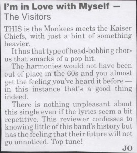 The Visitors - Dumfries and Galloway Standard - Single Review